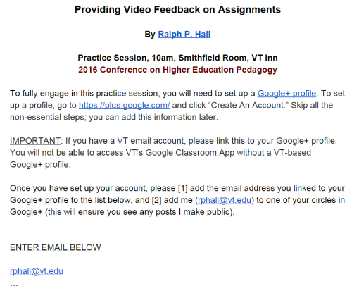 c76c591c5fe The second Google Doc below provides guidance on how to set up a Google  Apps platform for a course.